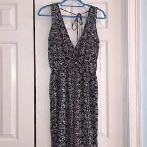 NWT Elephant Patterned jumpsuit with open back